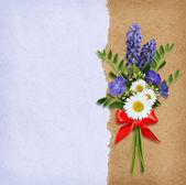 Wild flowers bouquet — Stock Photo