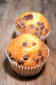 Cupcakes classic elaboration with no top — Stock Photo
