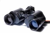 Binoculars antique ussr hand made — Stock Photo
