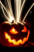 Pumpking orange terror hallowen — Stock Photo