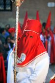 Holy week in spain, 1th April 2.015 cristianism celebration death and passion of Jesus Crist — Stock Photo