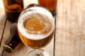 Beer fresh served — Stock Photo