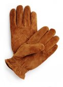 Brown suede gloves — Stock Photo