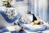 Niebieska łazienka — Zdjęcie stockowe