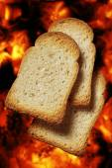 Toast bread slices — Stock Photo