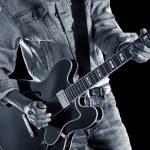 Playing rhythm & blues guitar — Stock Photo #52530737