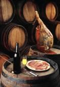 Sherry wine cellar — Stock Photo