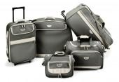 Grey luggage set — Stock Photo