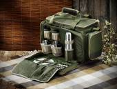 Hunting picnic bag — Stock Photo