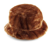 Brown fur hat — Stock Photo