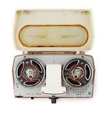 Vintage portable tape recorder — Stock Photo