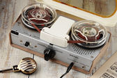 Vintage tape recorder — Stock Photo