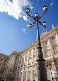 Classic lamppost of madrid — Stock Photo