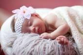 Baby is sleeping — Stock Photo