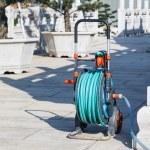 Nozzle of gardening water hose — Stock Photo #63212297
