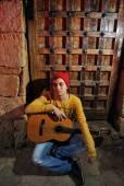 Hudebník s kytarou — Stock fotografie