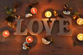Wooden letters with word love  — Stock Photo