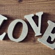 Wooden letters with word love — Stock Photo #56533851