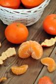 Pieces of tangerines — Stock Photo
