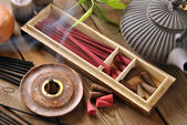 VARIOUS TYPES OF INCENSE  — Fotografia Stock