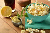 Popcorn with butter and salt  — Stock Photo