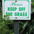 Keep off the grass sign — Stock Photo #53253613