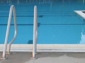 Indoor Pool and Ladder — Stock Photo