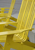 Metal Park Benches in an Urban Area — Stock fotografie