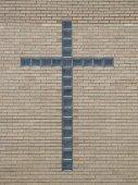 Glass Block Cross — Stockfoto