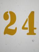24 Sign — Stock Photo