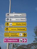 Spanish Road Signs — Foto Stock