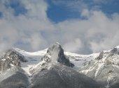 Snow Capped Mountain Range — Stock Photo