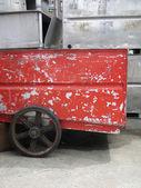 красный промышленный фургон — Стоковое фото