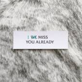 Note on a cowhide — Stock Photo