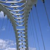 Modern white bridge — Stock Photo
