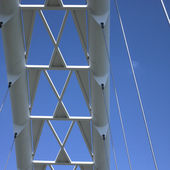 Modern white bridge — Stock Photo