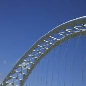 Modern white bridge — Стоковое фото