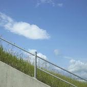 Industrial hand rail — 图库照片