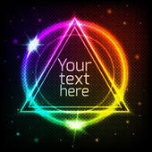Abstract geometric background with space for your text — Vector de stock