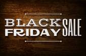 Black friday announcement on  vector wooden background — 图库矢量图片