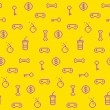 Seamless oldschool gaming inspired pattern, game icons, achievem — Stock Vector #67932255
