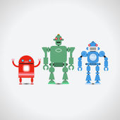 Robot Collection — Stock Vector