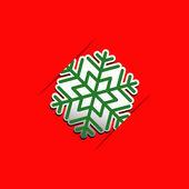 Jul snöflinga applique vektor bakgrund — Stockvektor