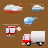 Transports or Vehicles icons — Stock Vector