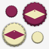 Bottle caps vector — Stock Vector