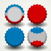Bottle caps vector — Stock Vector