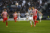 Soccer match between Partizan and Red Star — Stock Photo