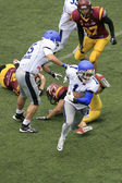 American Football Match Between Wolves And Blue Dragon — Foto de Stock