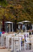 Sofia Cafe Tables Street — Stock Photo
