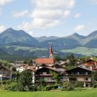 Idyllic Bavarian Landscape, Village And Zugspitze — Stock Photo #60475033